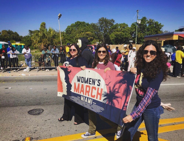 Demonstrators show off signs during the 2019 Miami Women's March.(Courtesy Miami-Dade Chapter of Women's March Florida)